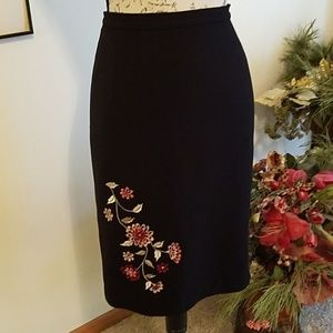 Black Career Skirt